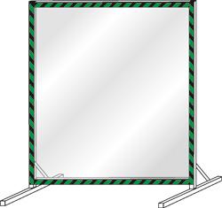 Сборно-разборный экран защитный напольный