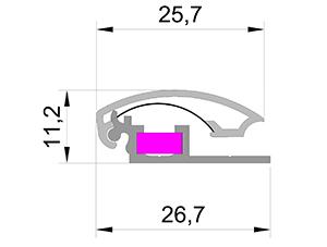 Клик профиль 25 мм