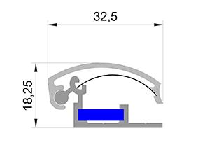 Клик профиль 33 мм